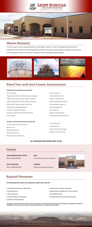 Leupp Schools Inc Military Strategic